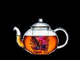 Glas-Teekannen
