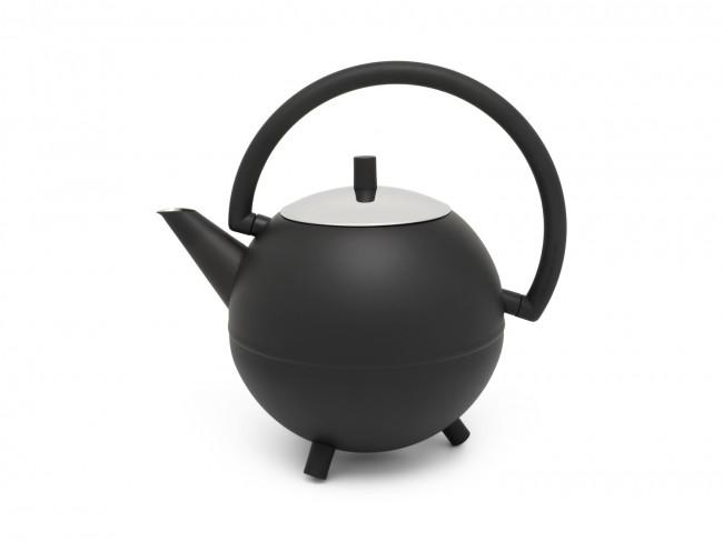 Teekanne Duet® Design Saturn 1,2L schwarz matt
