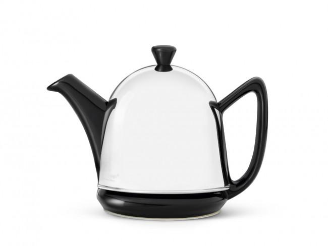 Teekanne Manto 0,6L schwarz Steingut