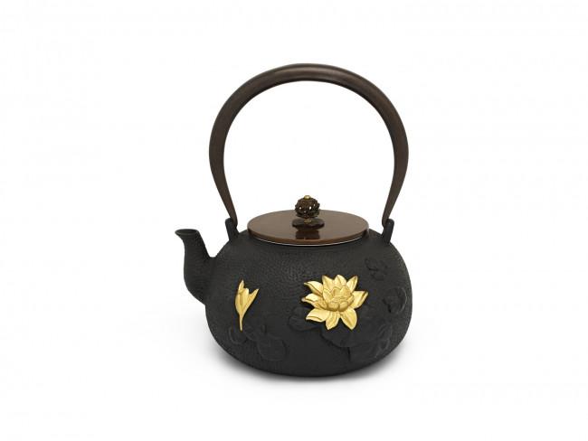 Teekanne Pure Lotus 1,4L Gusseisen schw.gd