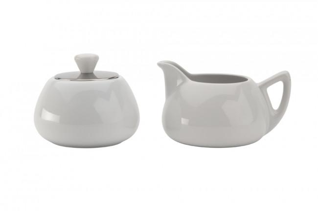 Cosy® Manto Milch-& Zucker-Set weiß Steingut