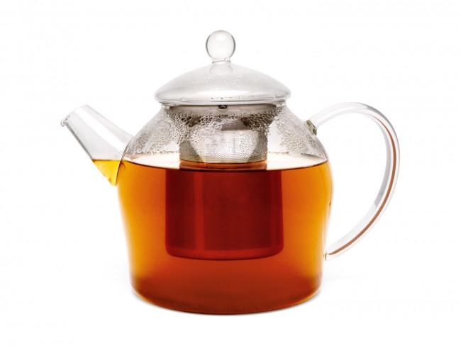 Teekanne Minuet Glas 1,2L +Edelstahlfilter