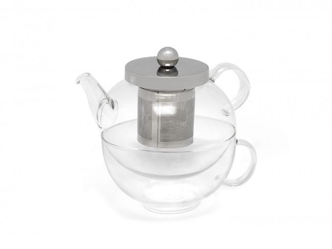 Tea-for-one Set Glas Modena 0,5L einwandig