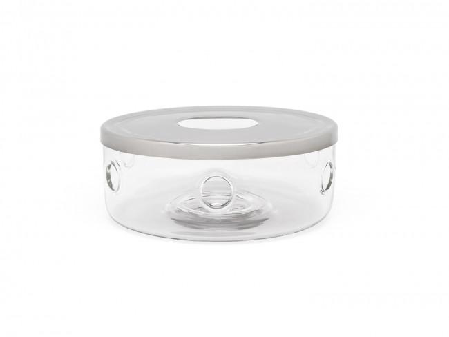 Teewärmer Minuet Glas + Edelstahlplatte
