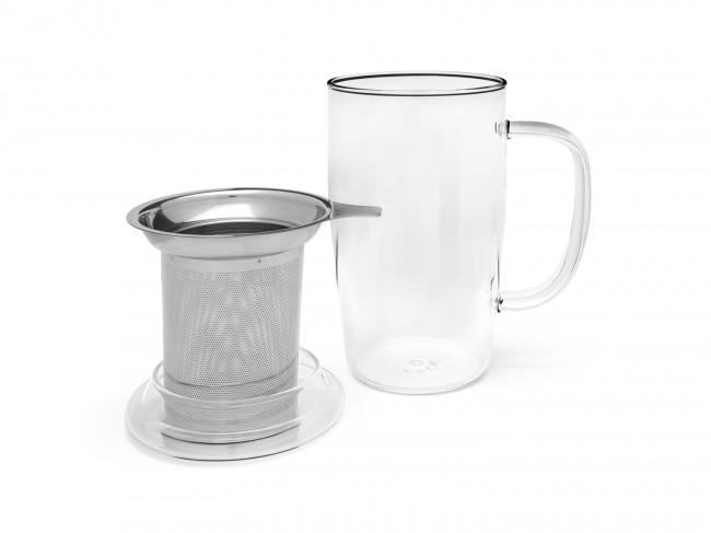 Teeglas Veneto 530ml inkl. Filter + Deckel