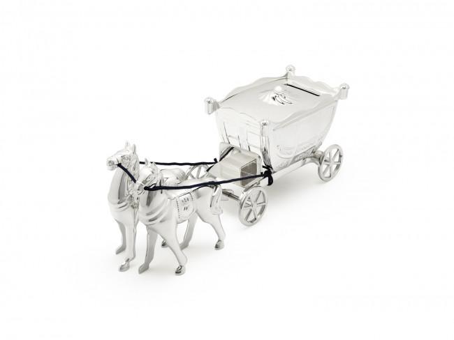 Spardose Kutsche mit 2 Pferden vers. anl.