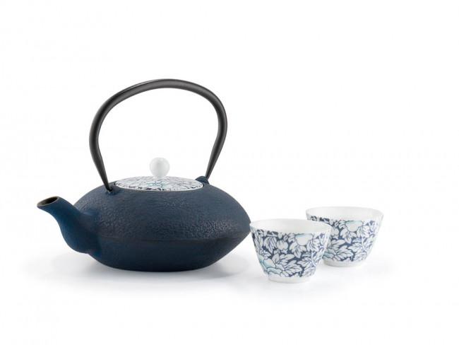 Teekanne Yantai 1,2L Gusseisen blau
