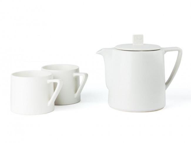 Teekanne Lund 1,0L Steingut weiß