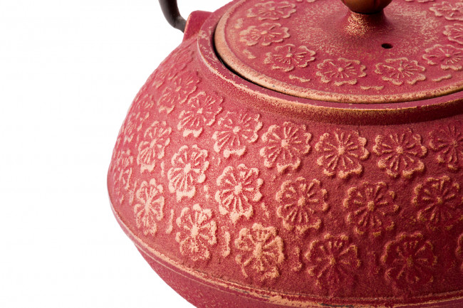 Tee-Set Shanghai 0,6L Gusseisen pink gold