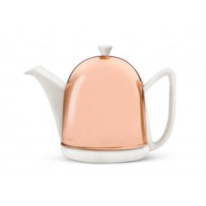 Teekanne Manto 1,0L, weiß, Kupfer-Mantel