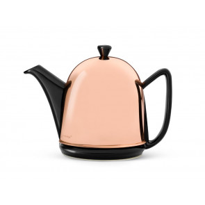 Teekanne Manto 1,0L schwarz Kupfer-Mantel