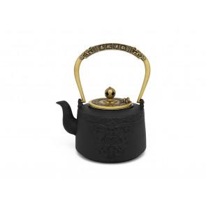 Teekanne Emperor 1,2L Gusseisen schw. gold