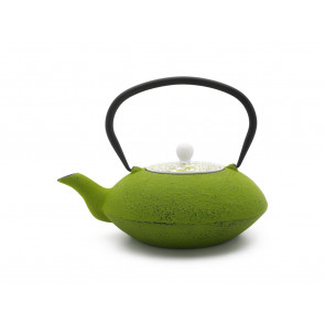 Teekanne Yantai 1,2L, grün, mit Porzellan-Deckel