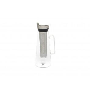 Eisteekanne Glas + Edelstahlfilter 1,2L