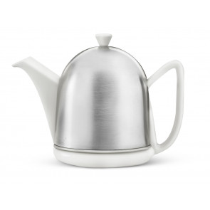 Teekanne Cosy® Manto 1,0L Steingut weiβ matt