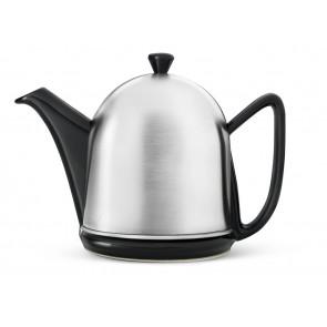 Teekanne Manto 1,0L Steingut schwarz matt