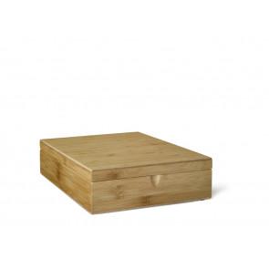 Teebeutel-Kiste, 9 Fächer, Bambus