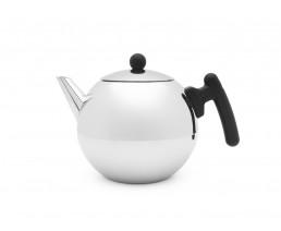 Teekanne Duet® Bella Ronde 1,2L mit flachem Boden schwarz