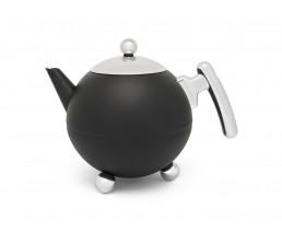 Teekanne Duet® Bella Ronde 1,2L schwarz matt
