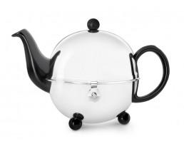 Teekanne Cosy 0,9L schwarz Steingut