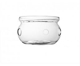 Teewärmer Verona Glas/Edelstahlplatte