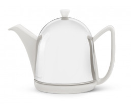 Teekanne Manto 1,0L weiβ Steingut