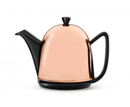 Teekanne Cosy® Manto 1,0L schwarz Kupfer-Mantel