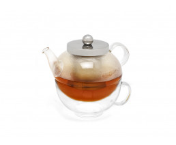 Tea-for-one Set Glas Modena 0,5L einwandig