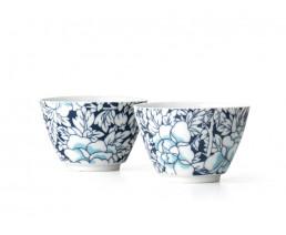 Teebecher Yantai Porzellan blau 2er-Set